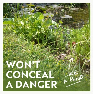 Won't conceal a danger infographic
