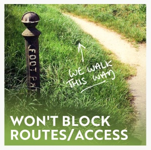 Won't block routes infographic